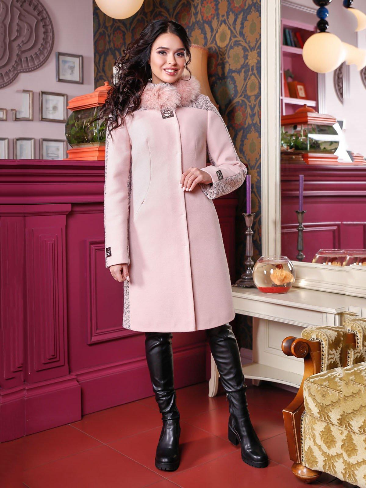 Пальто розовое | 4052208