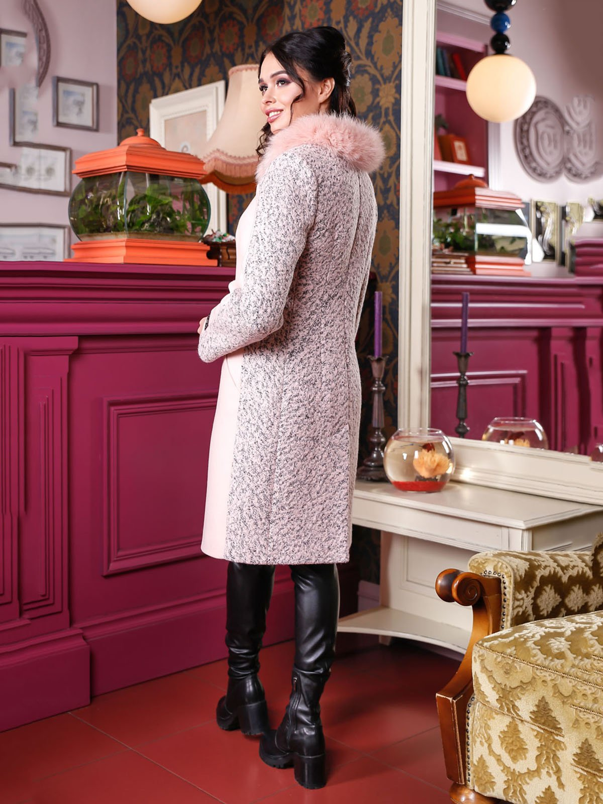 Пальто розовое | 4052208 | фото 2