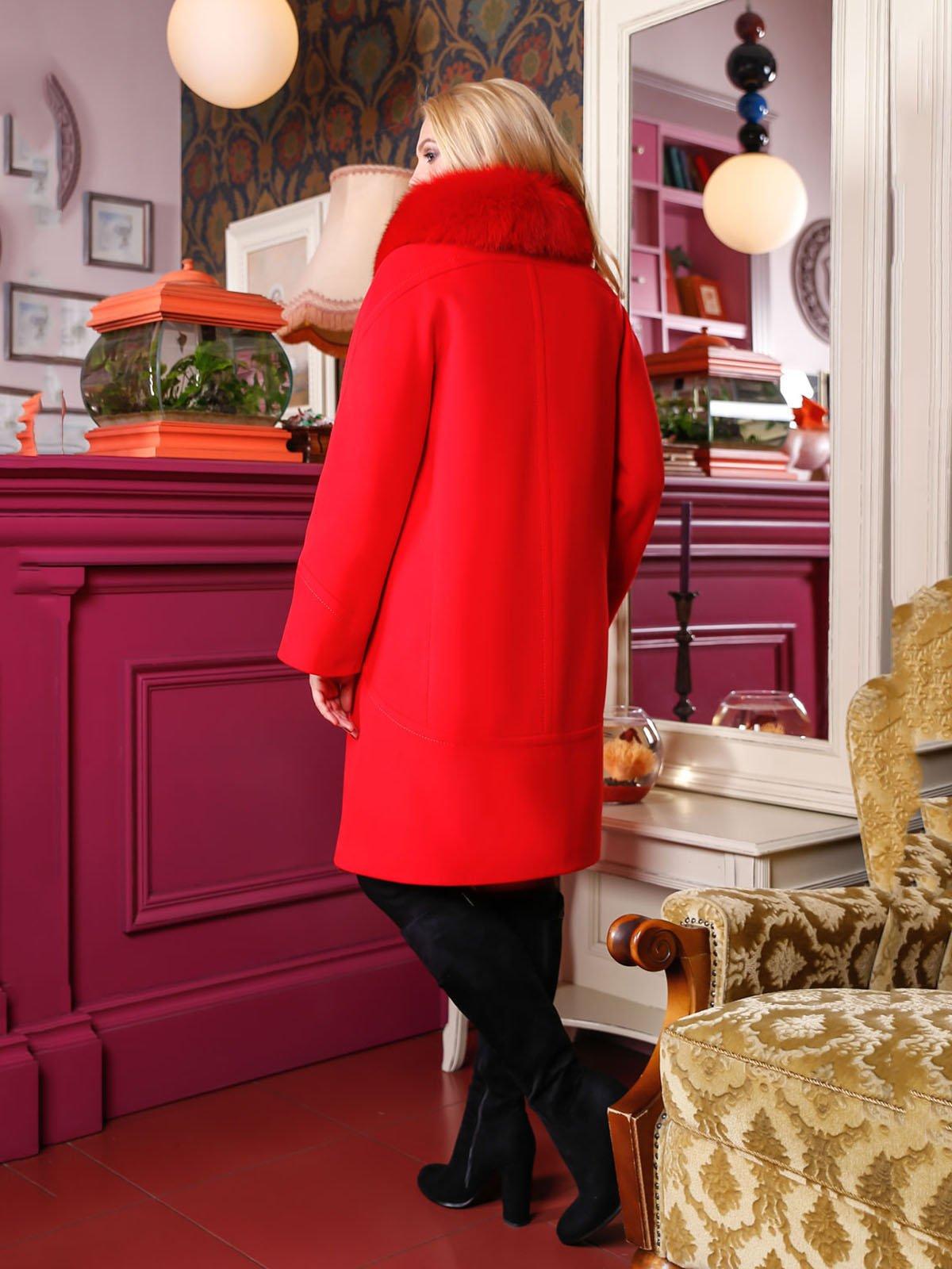 Пальто красное | 4052214 | фото 2