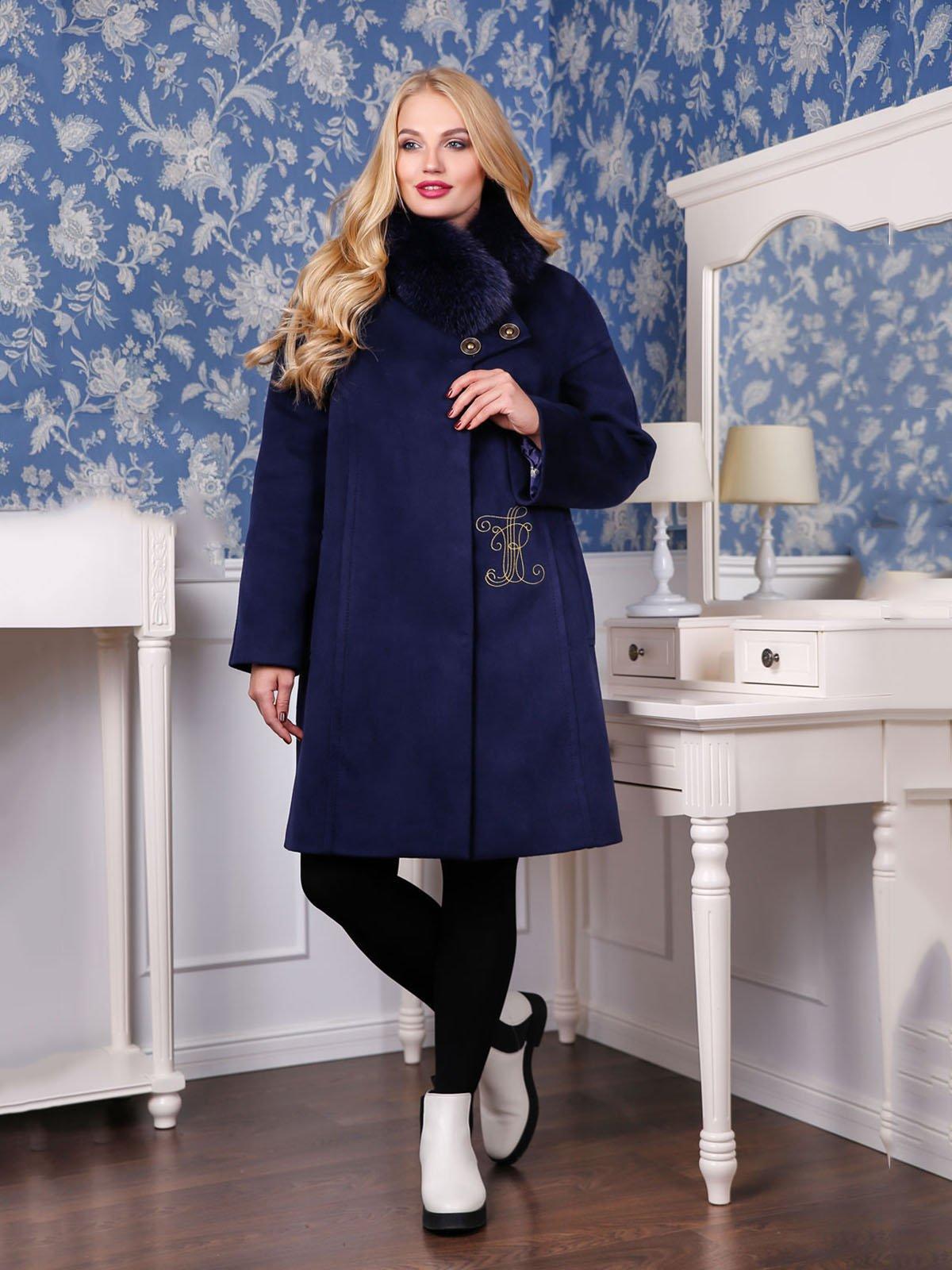 Пальто темно-синее | 4052238