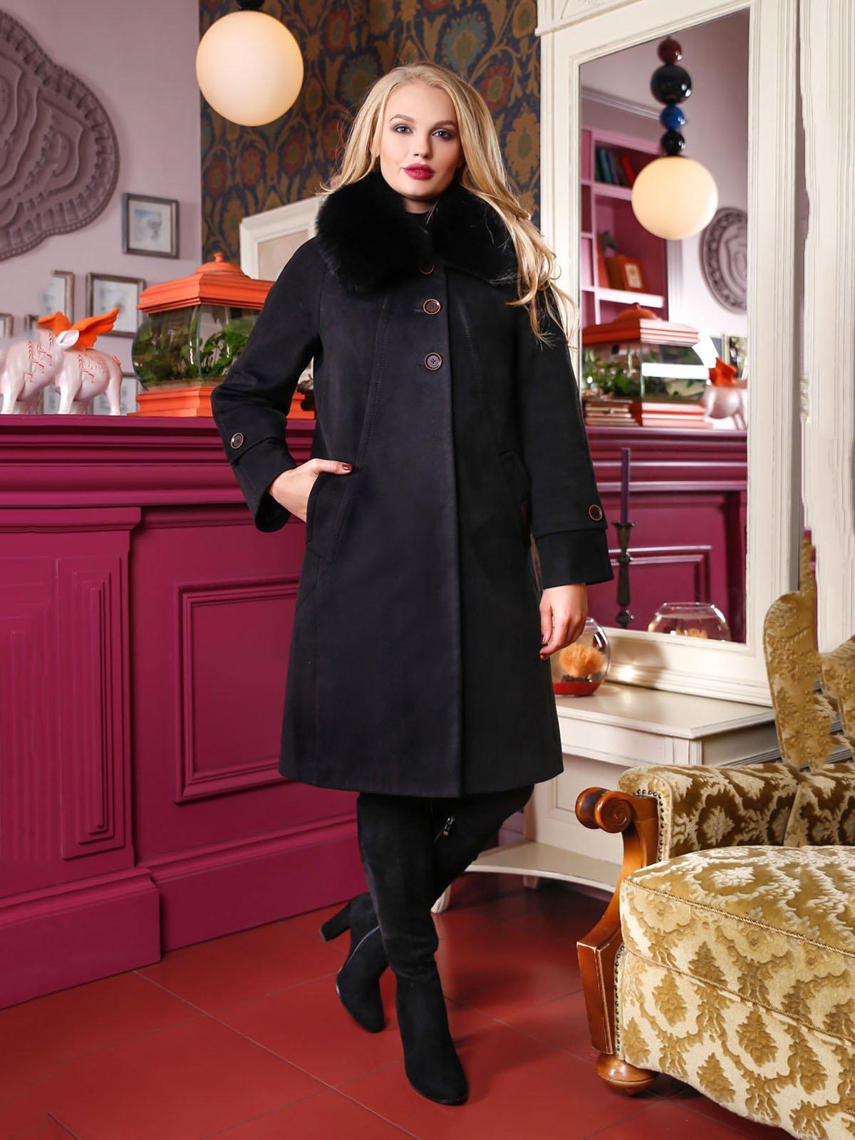 Пальто чорне | 4052246