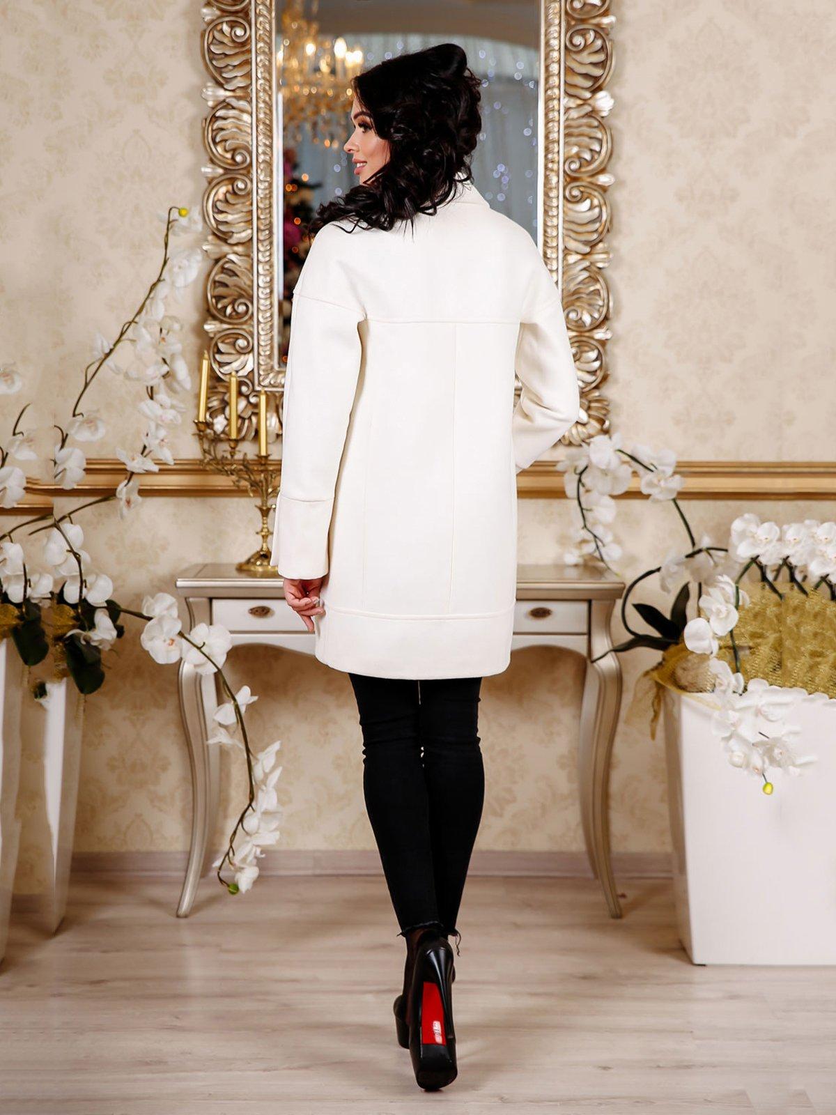 Пальто кремового цвета | 4052421 | фото 2