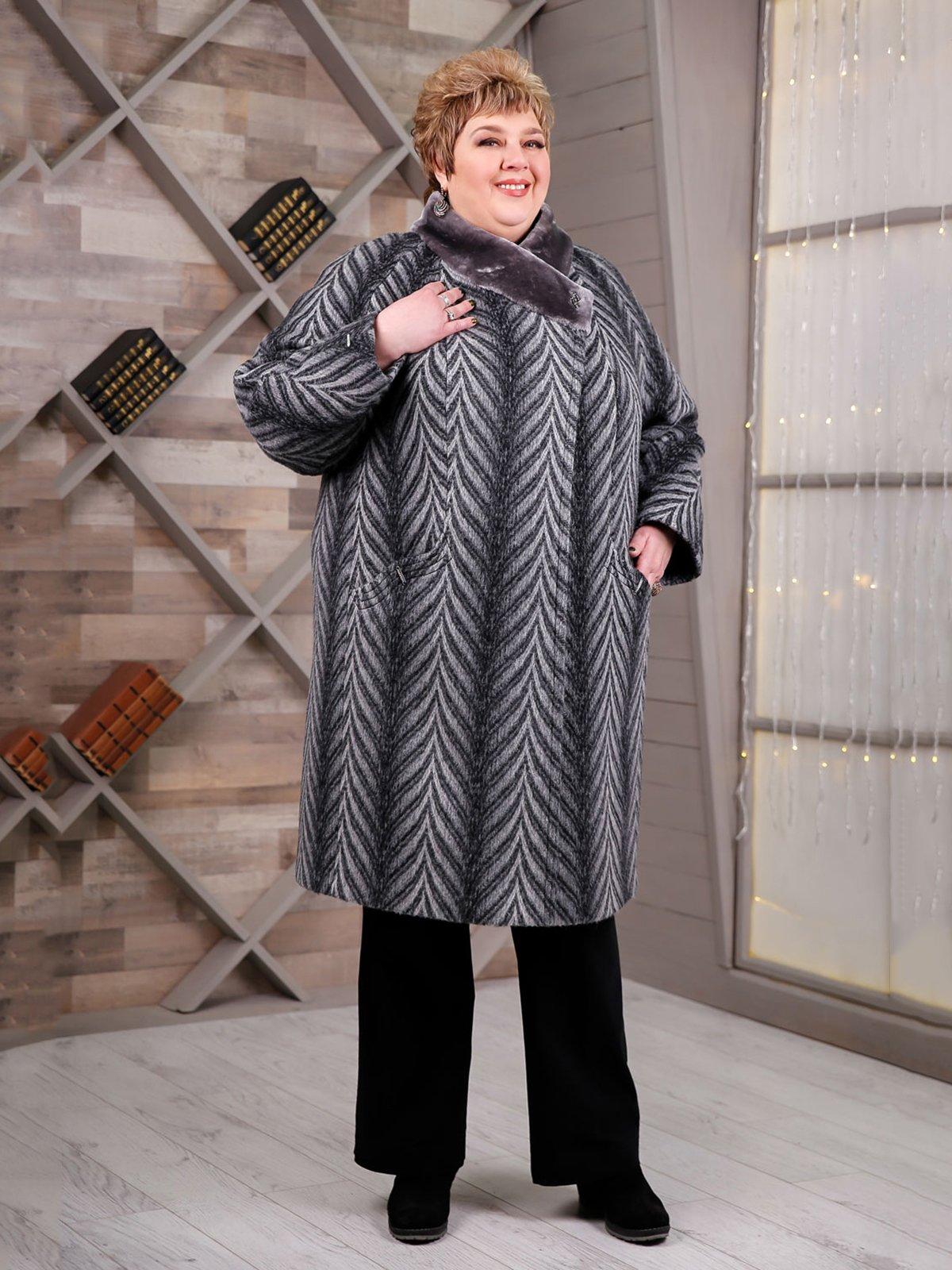 Пальто серо-черное в «елочку» | 4052519