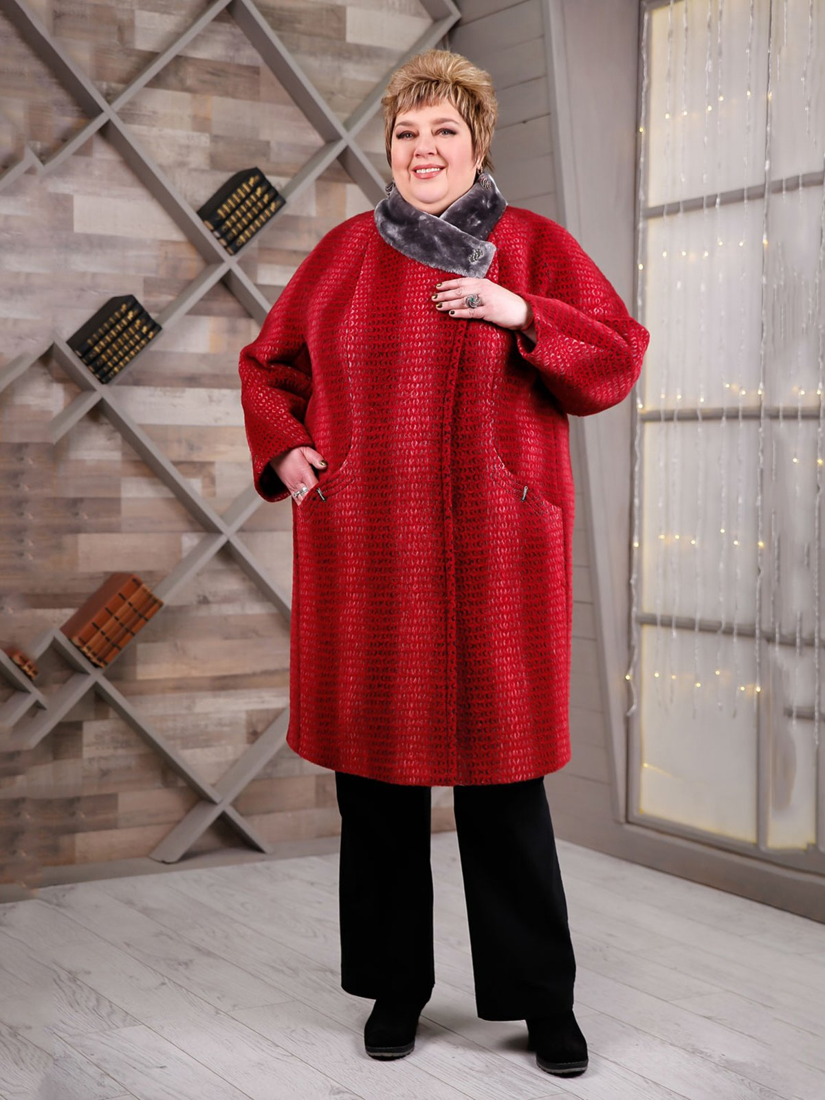 Пальто червоне | 4052527