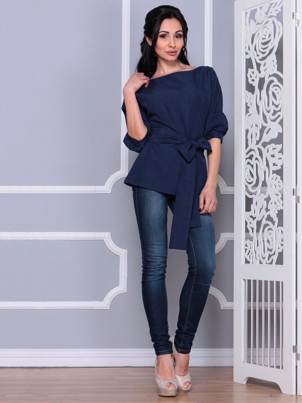 Блуза темно-синяя   4028055
