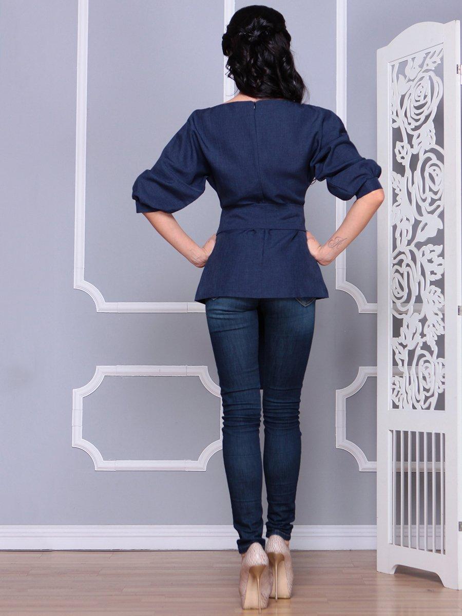Блуза темно-синяя   4028055   фото 2