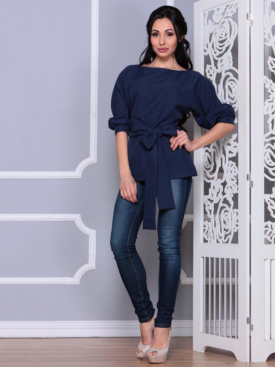 Блуза темно-синяя   4028055   фото 3