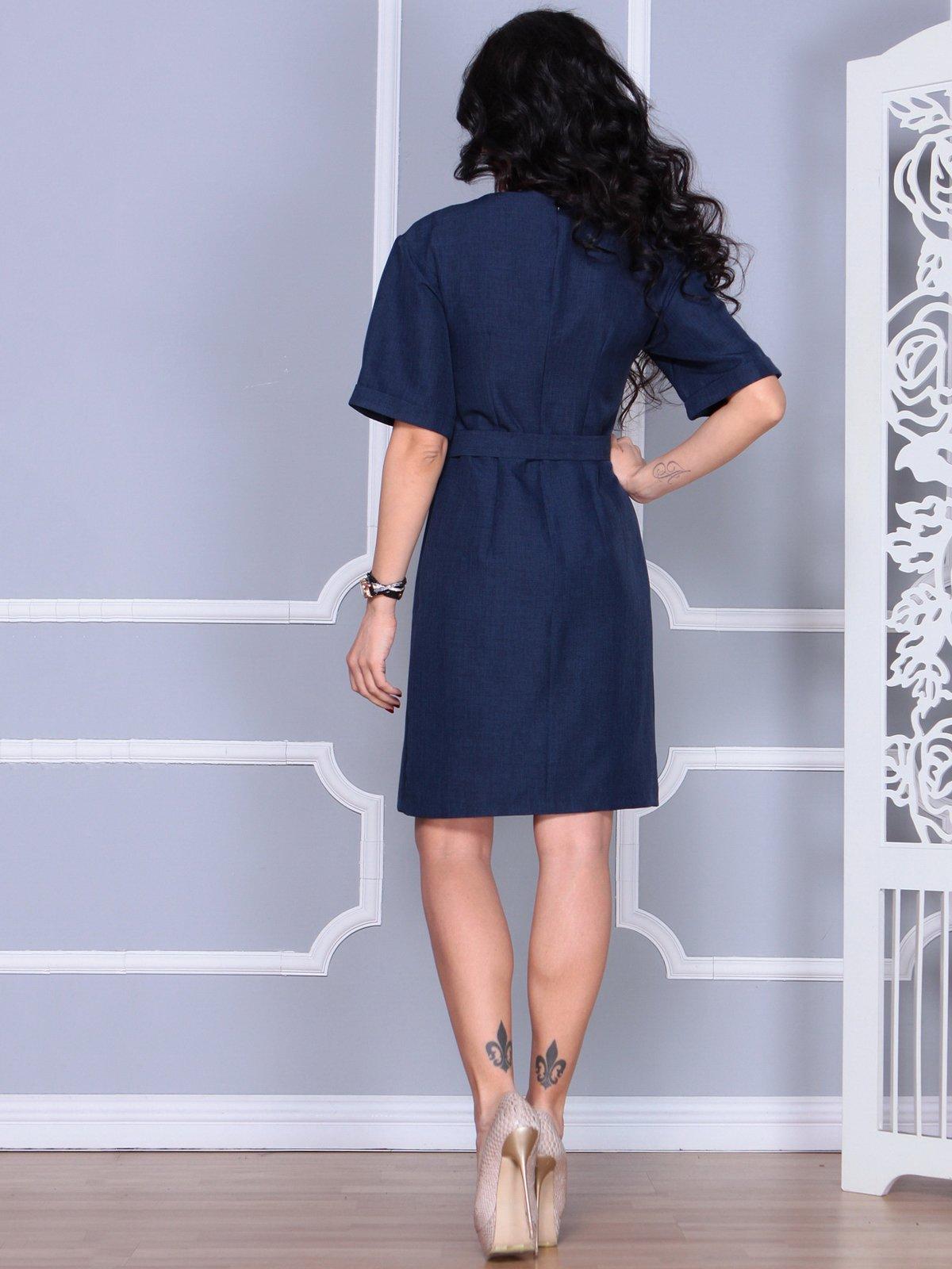 Платье темно-синее   4028060   фото 2