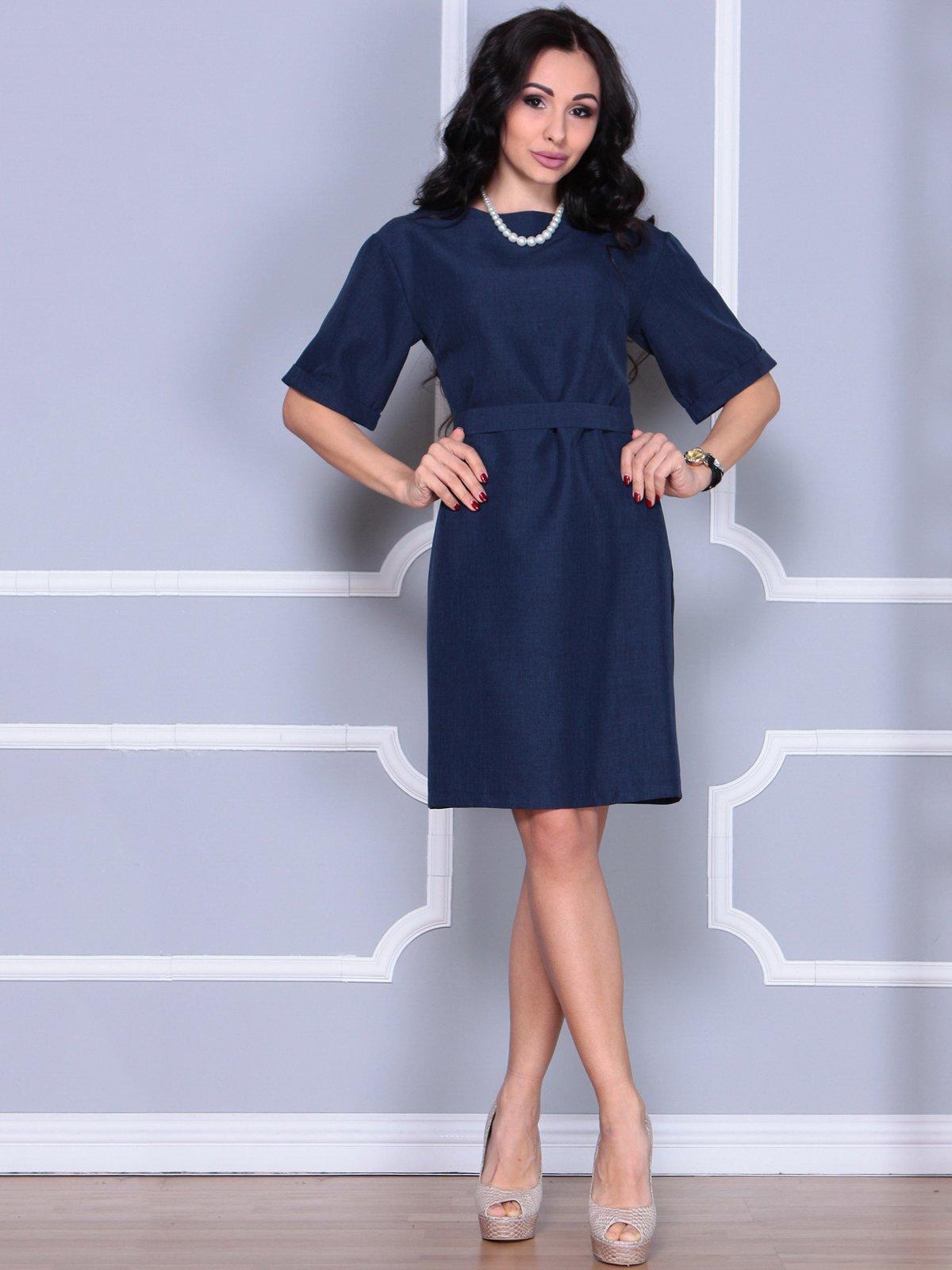 Платье темно-синее   4028060   фото 3