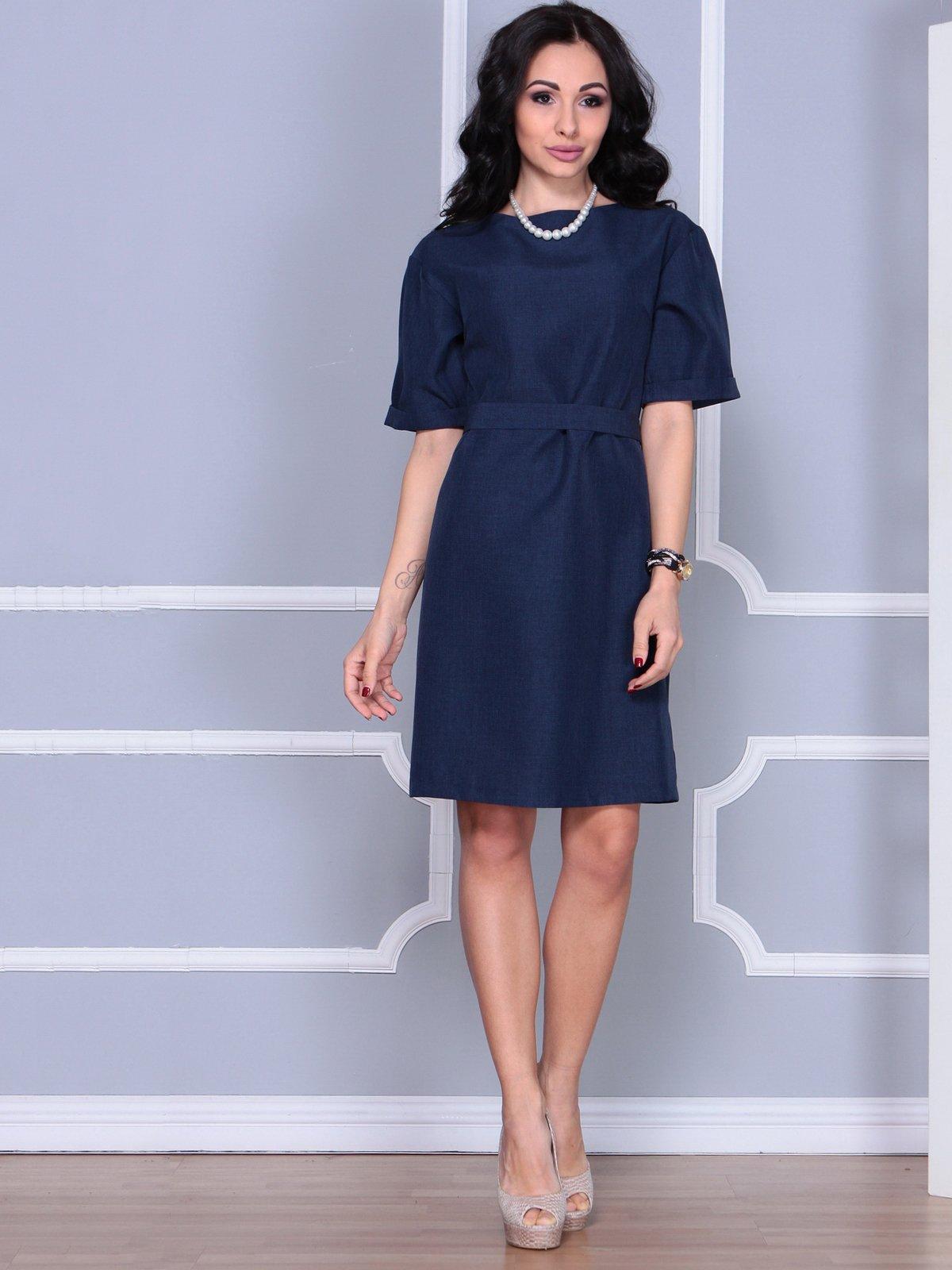 Платье темно-синее   4028060   фото 4