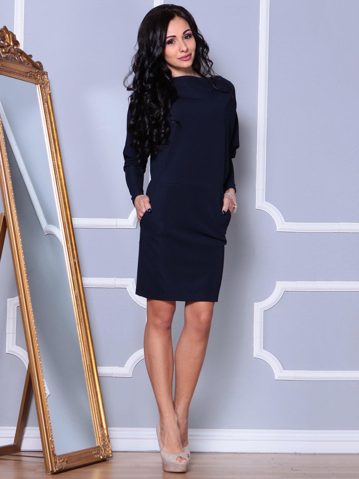 Платье темно-синее | 4028073