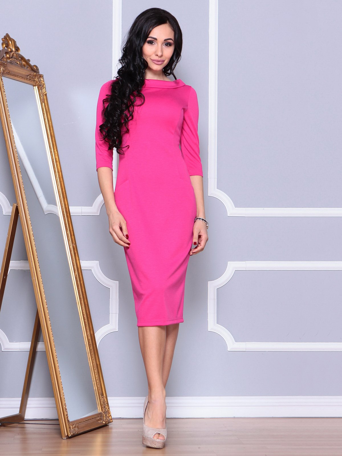 Платье цвета фуксии   4028076