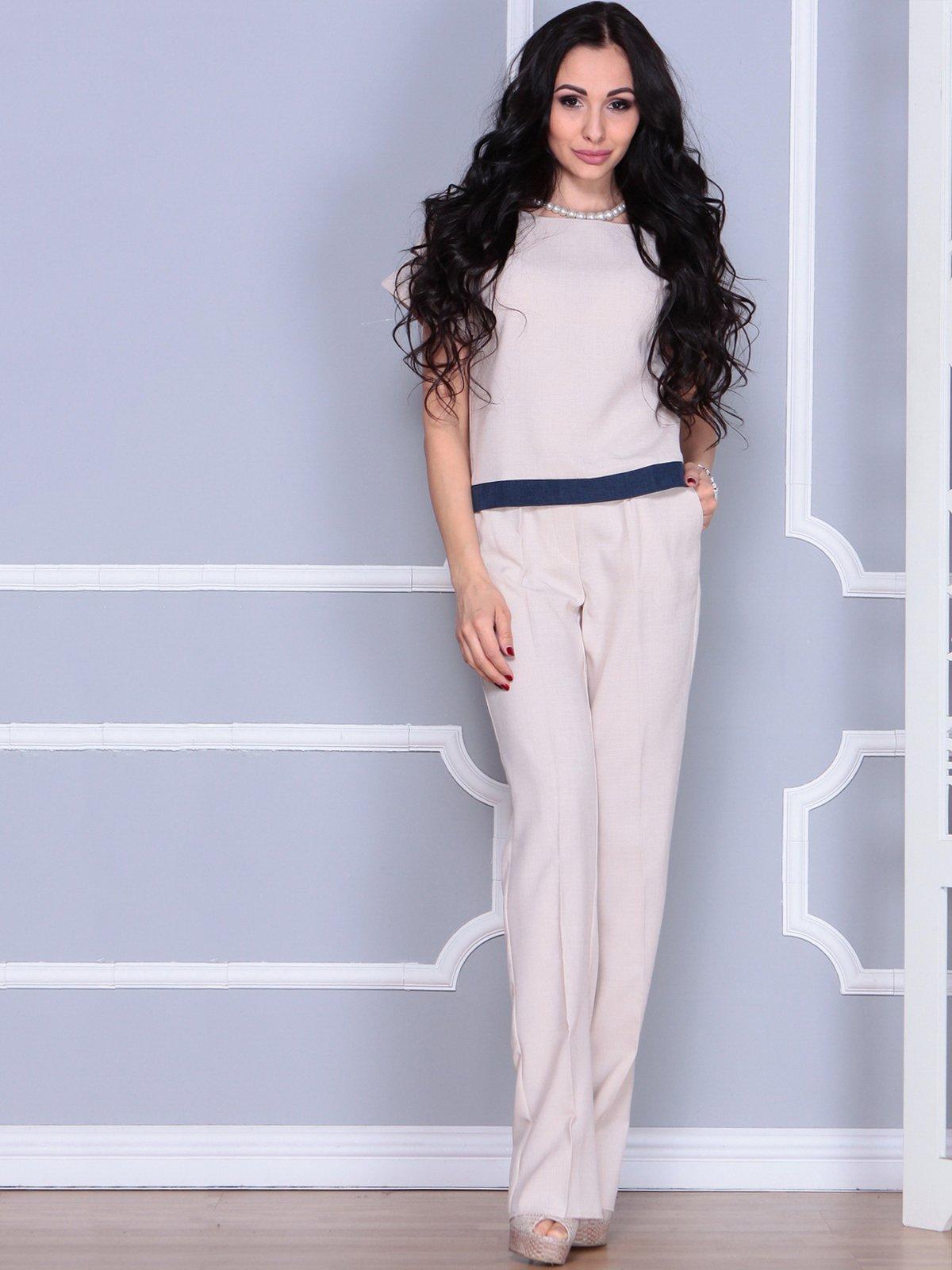 Костюм: блуза и брюки | 4028087 | фото 3