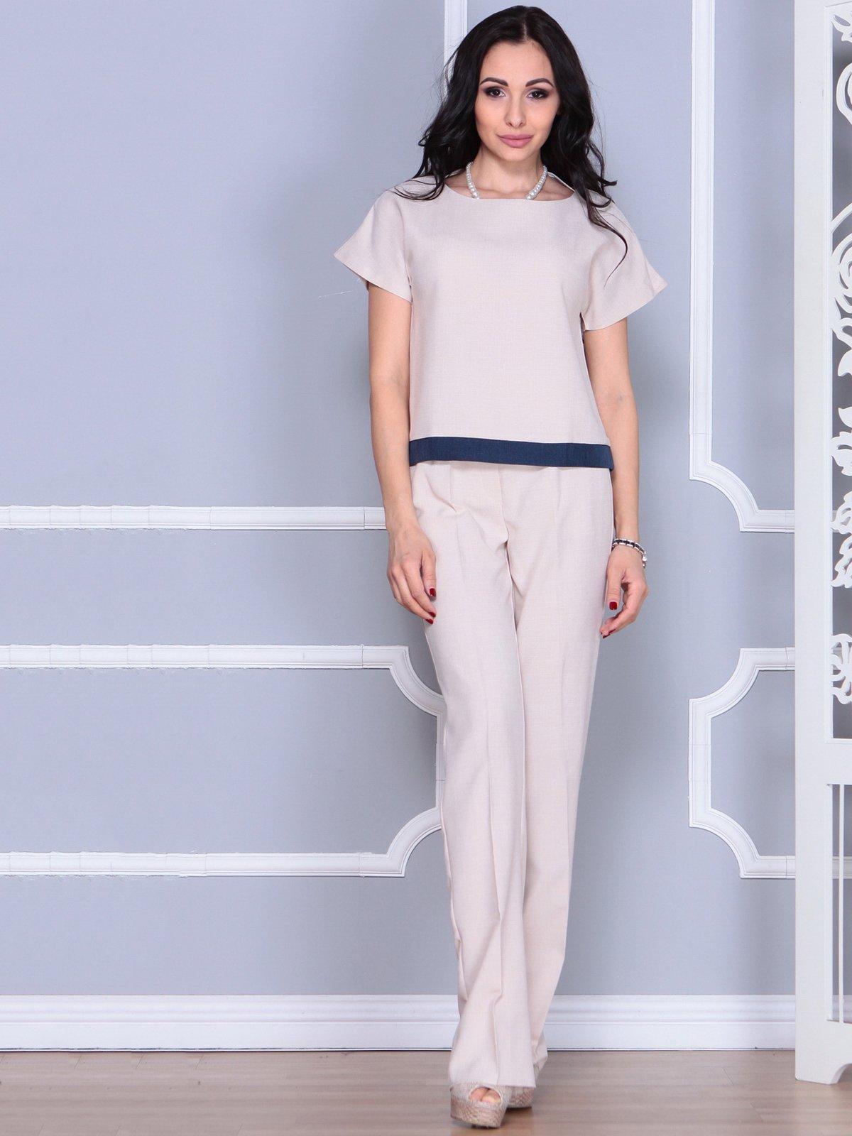 Костюм: блуза и брюки | 4028087 | фото 4