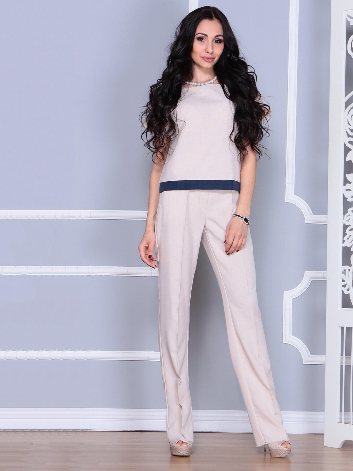 Костюм: блуза и брюки | 4028087 | фото 5