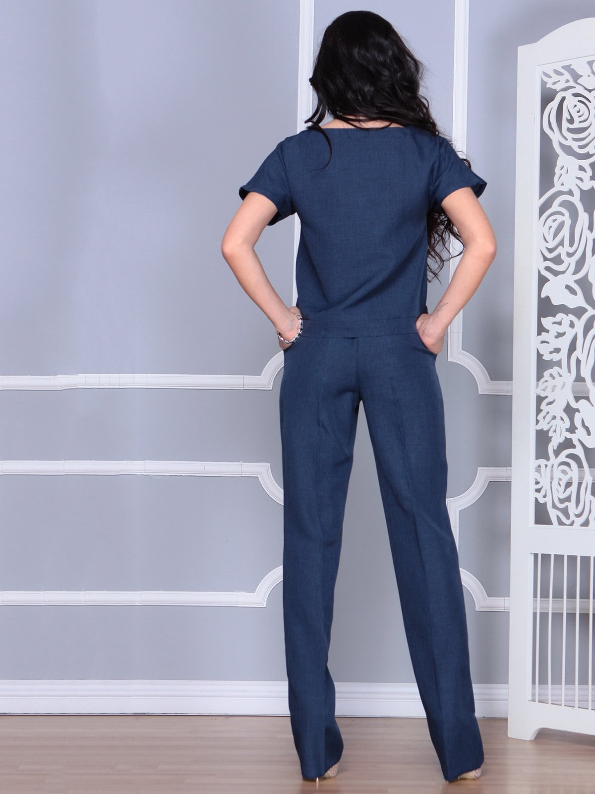 Костюм: блуза и брюки | 4028088 | фото 2