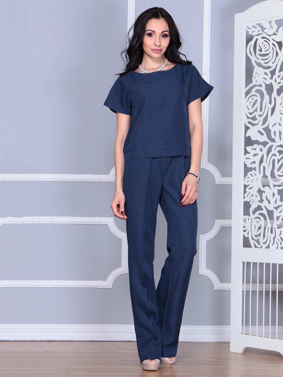 Костюм: блуза и брюки | 4028088 | фото 3