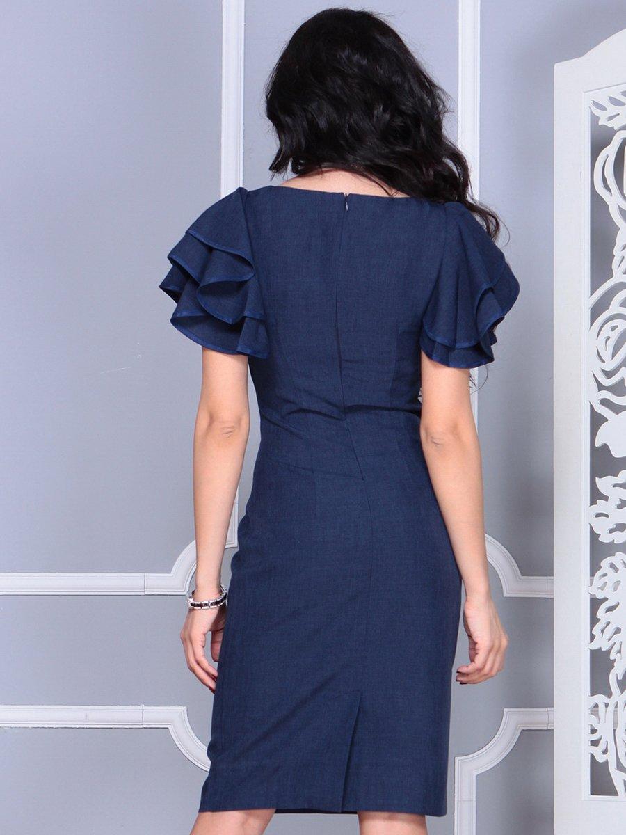 Платье темно-синее   4052024   фото 2