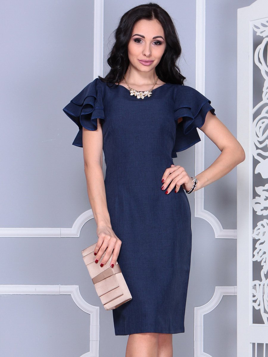 Платье темно-синее   4052024   фото 3