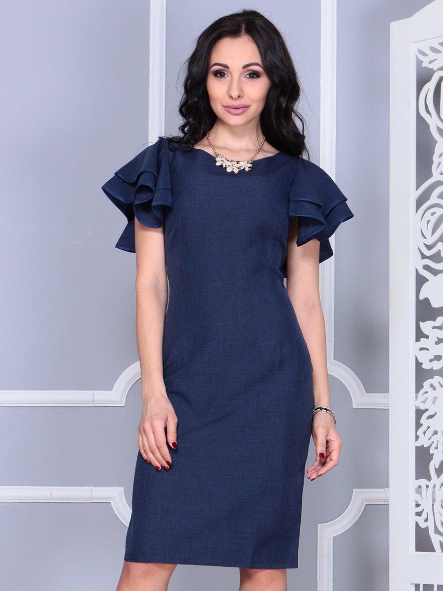 Платье темно-синее   4052024   фото 4