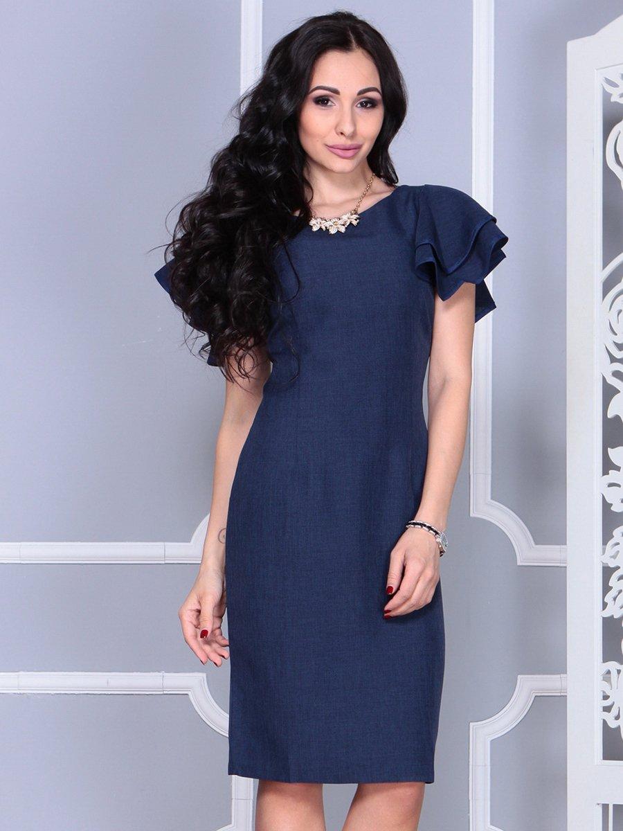 Платье темно-синее   4052024   фото 5