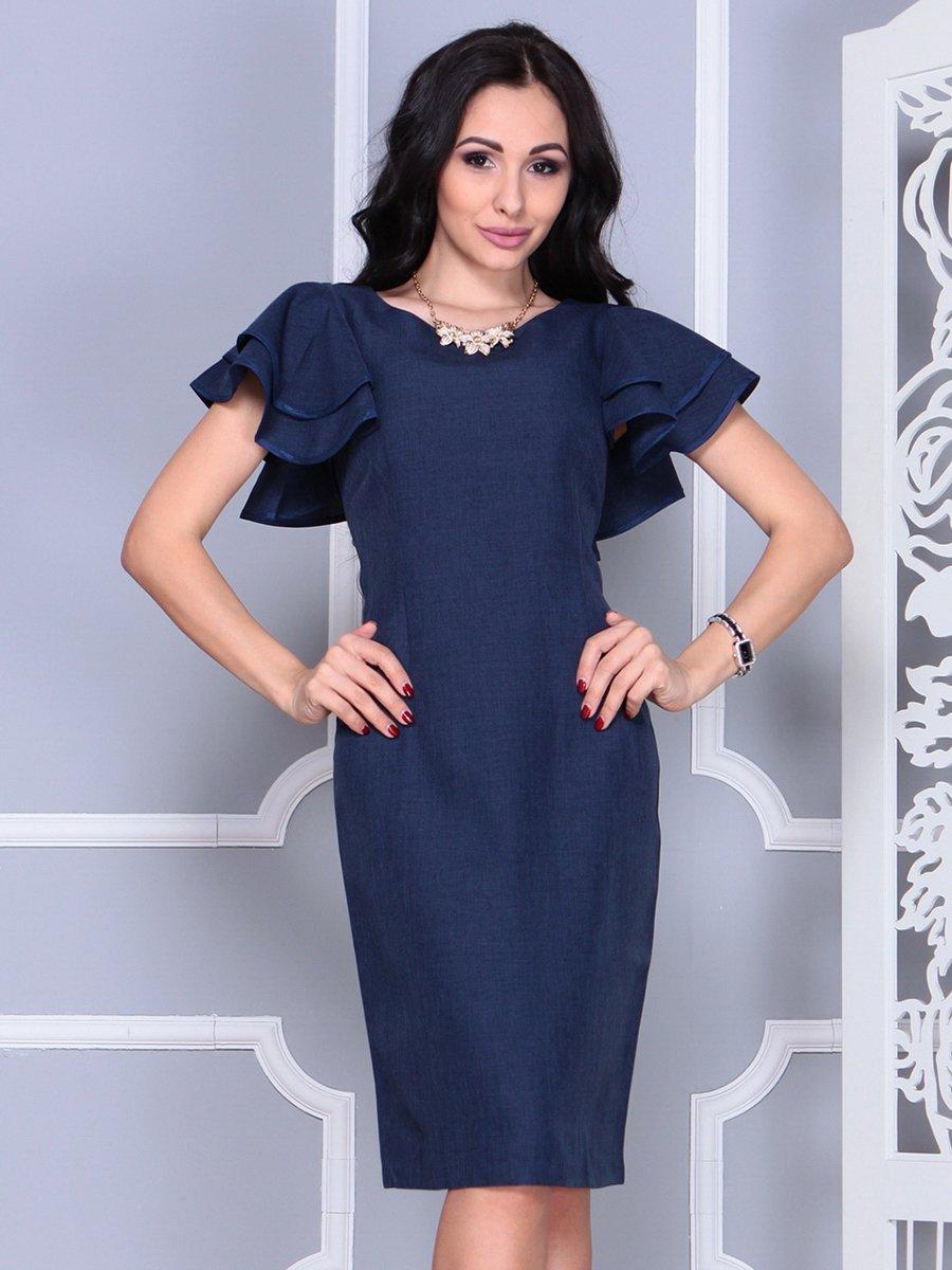 Платье темно-синее   4052024   фото 6