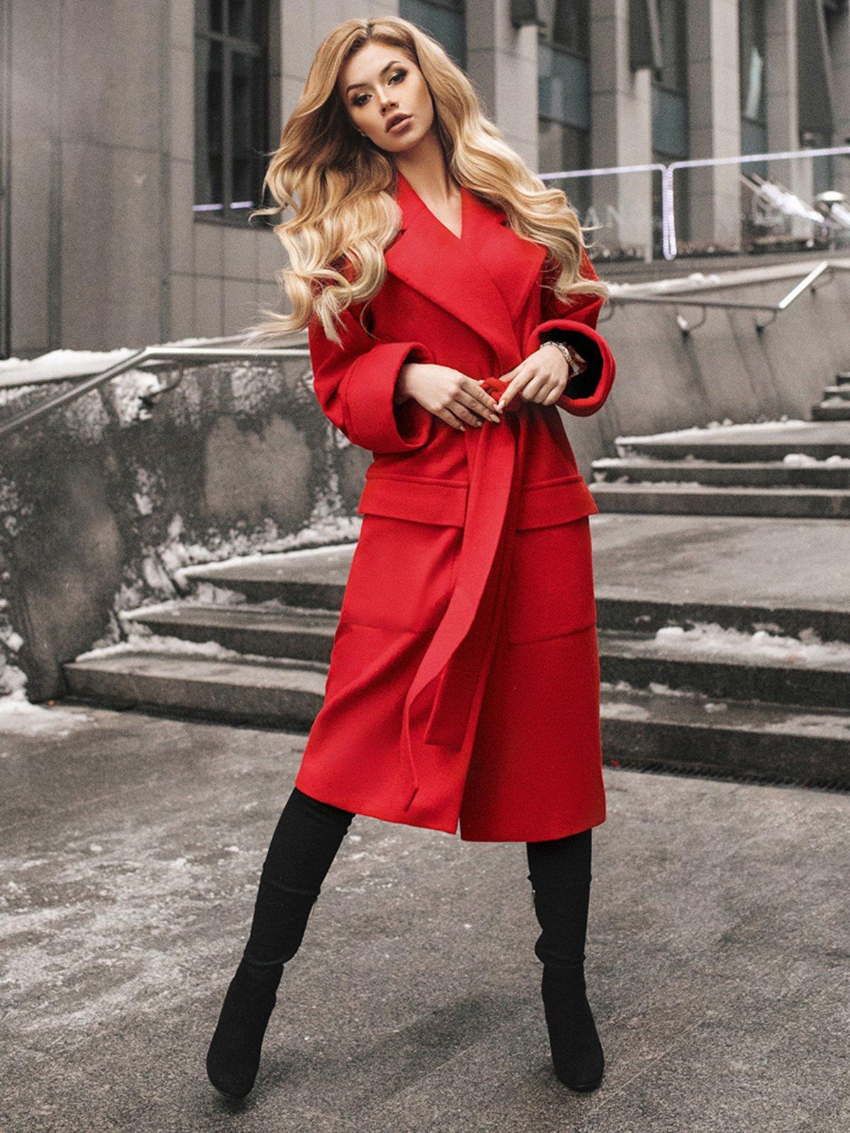 Пальто красное | 4053571