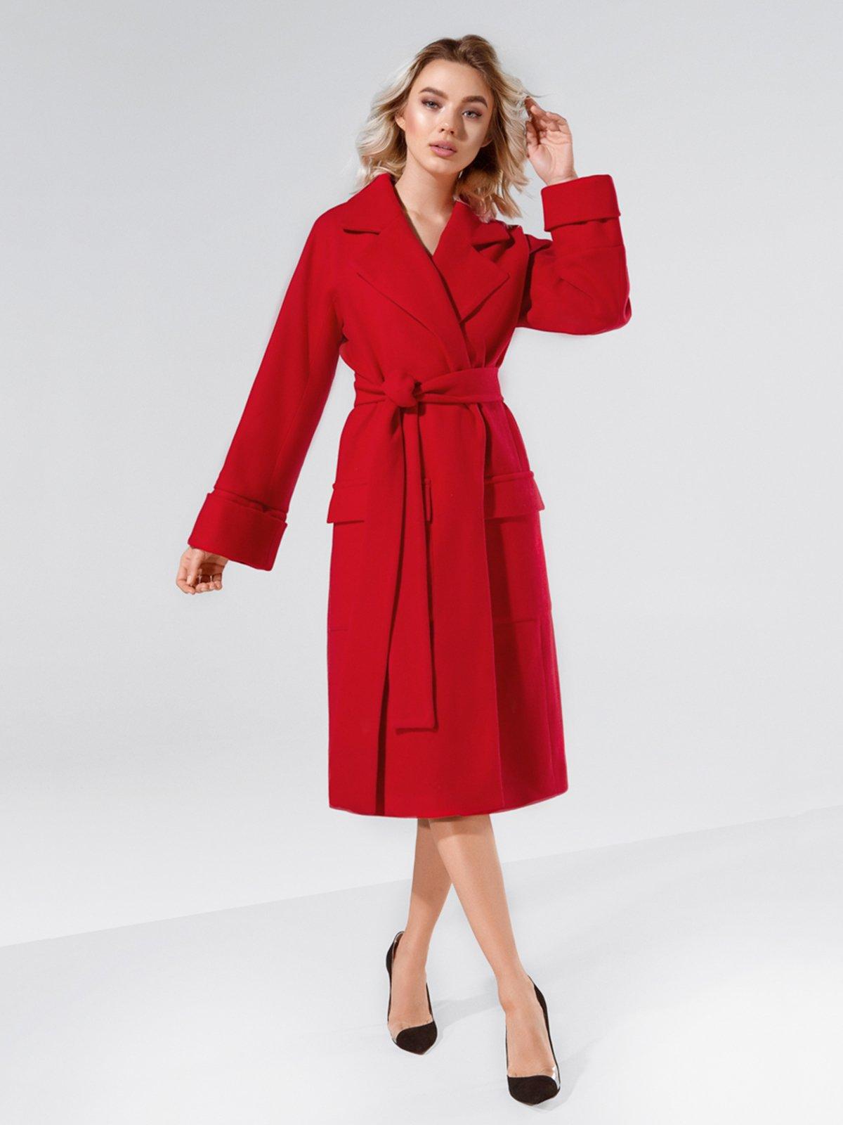 Пальто красное | 4053571 | фото 2