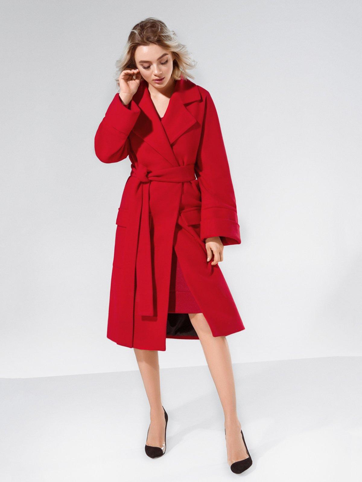 Пальто красное | 4053571 | фото 3