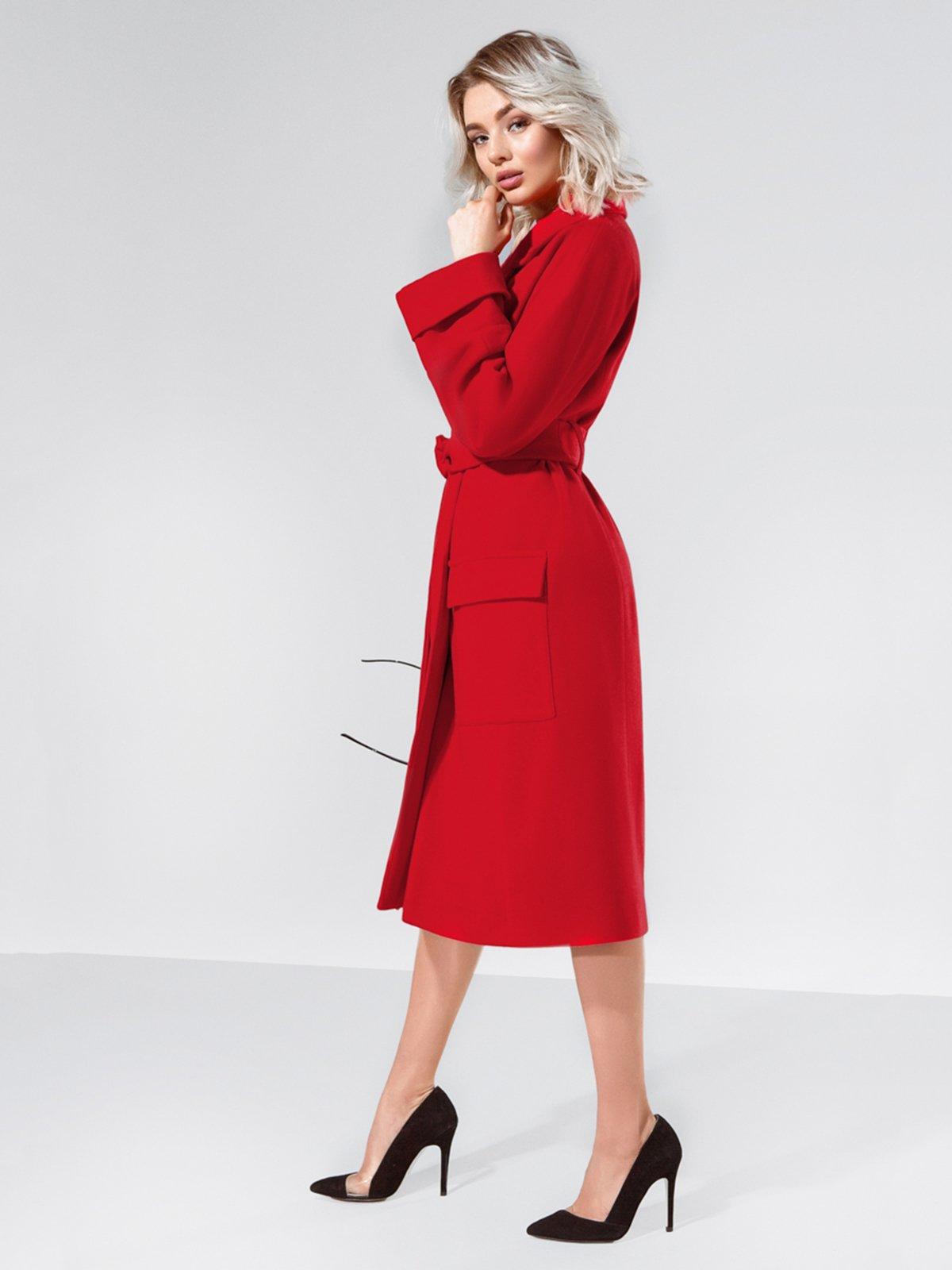 Пальто красное | 4053571 | фото 4