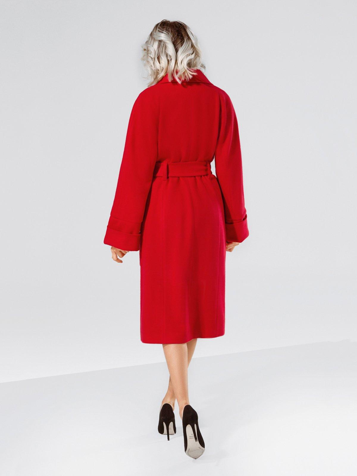 Пальто красное | 4053571 | фото 5