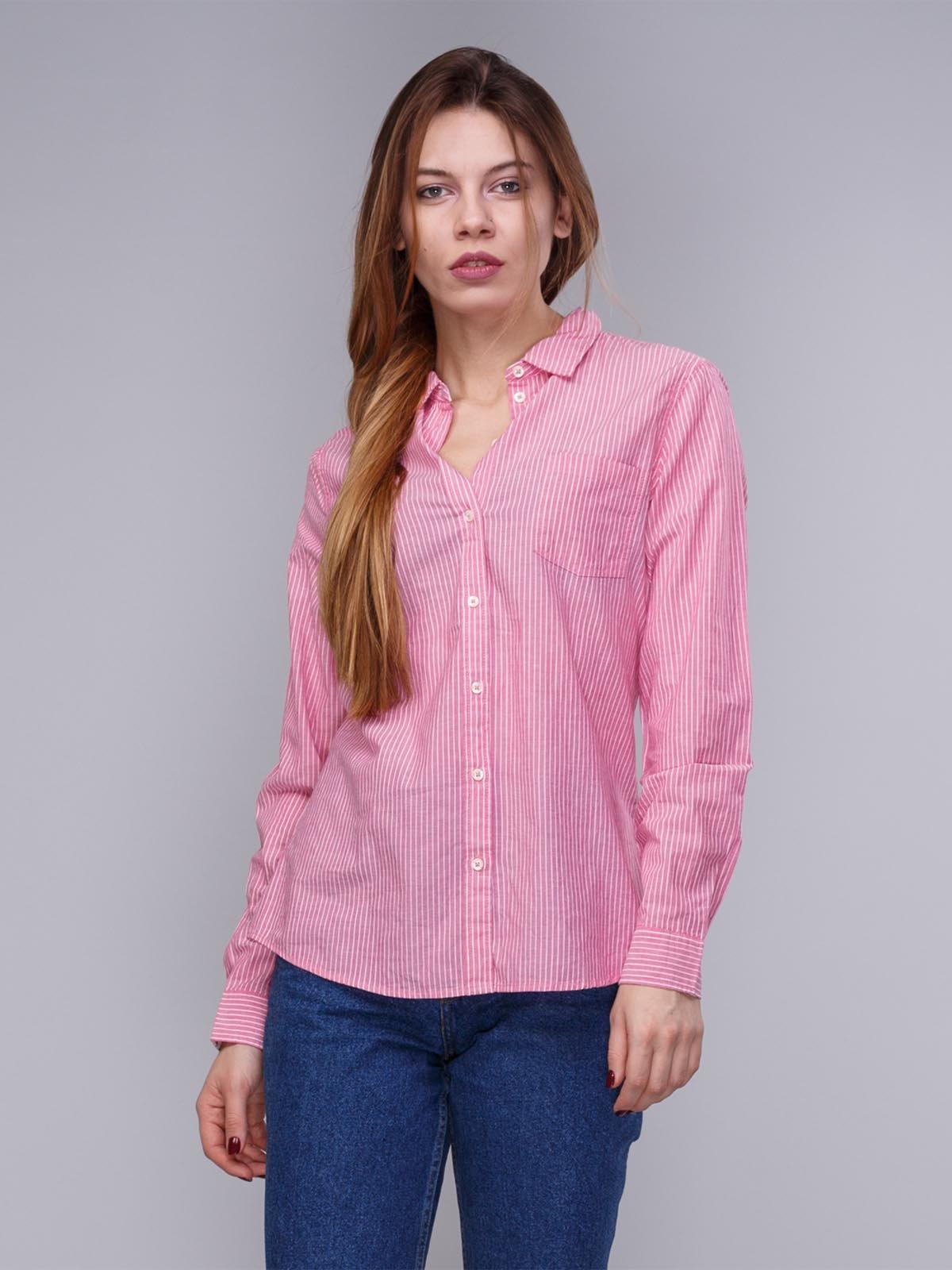 Сорочка рожева в смужку | 1899382