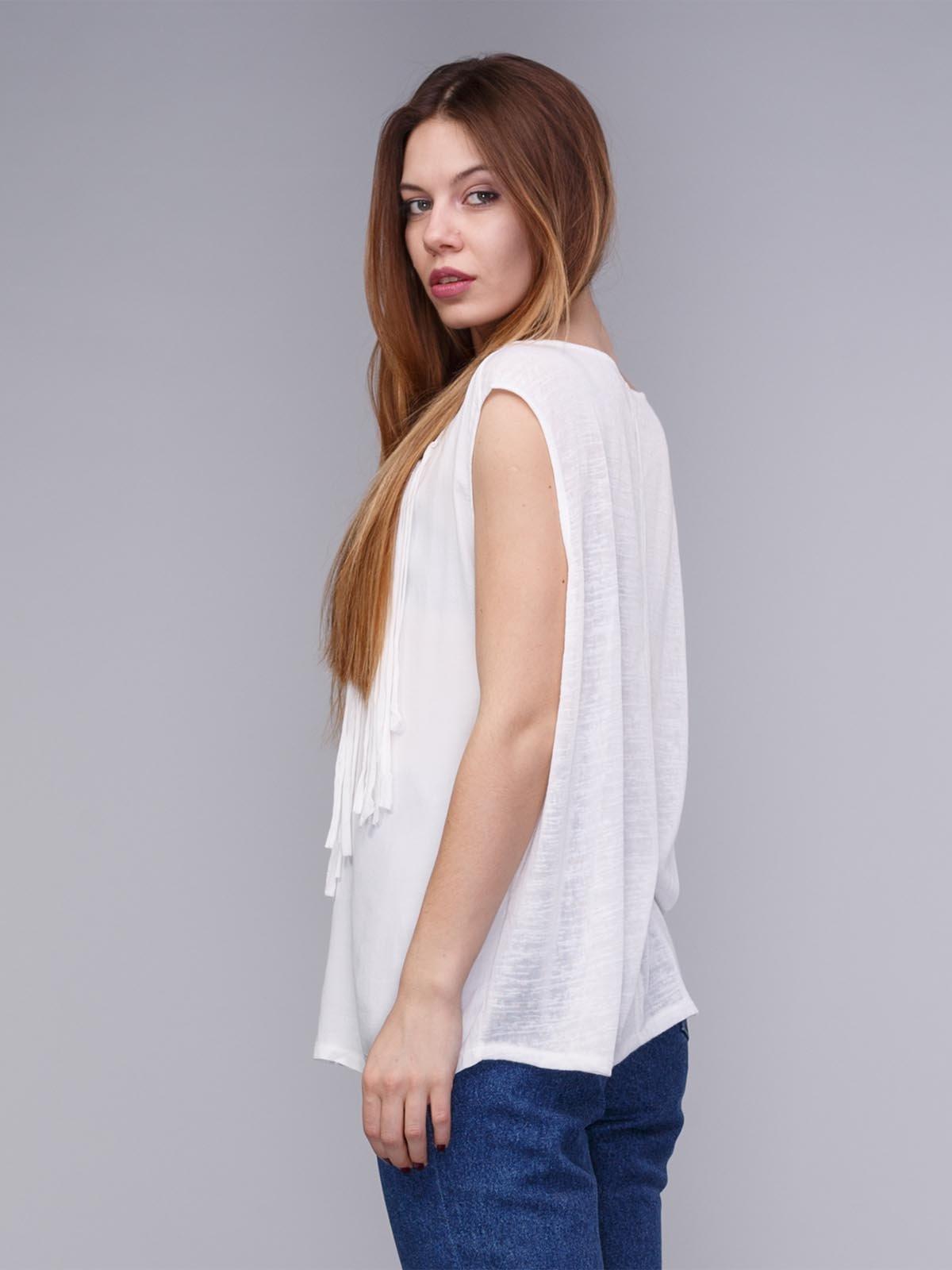 Блуза біла з бахромою | 1899235 | фото 2