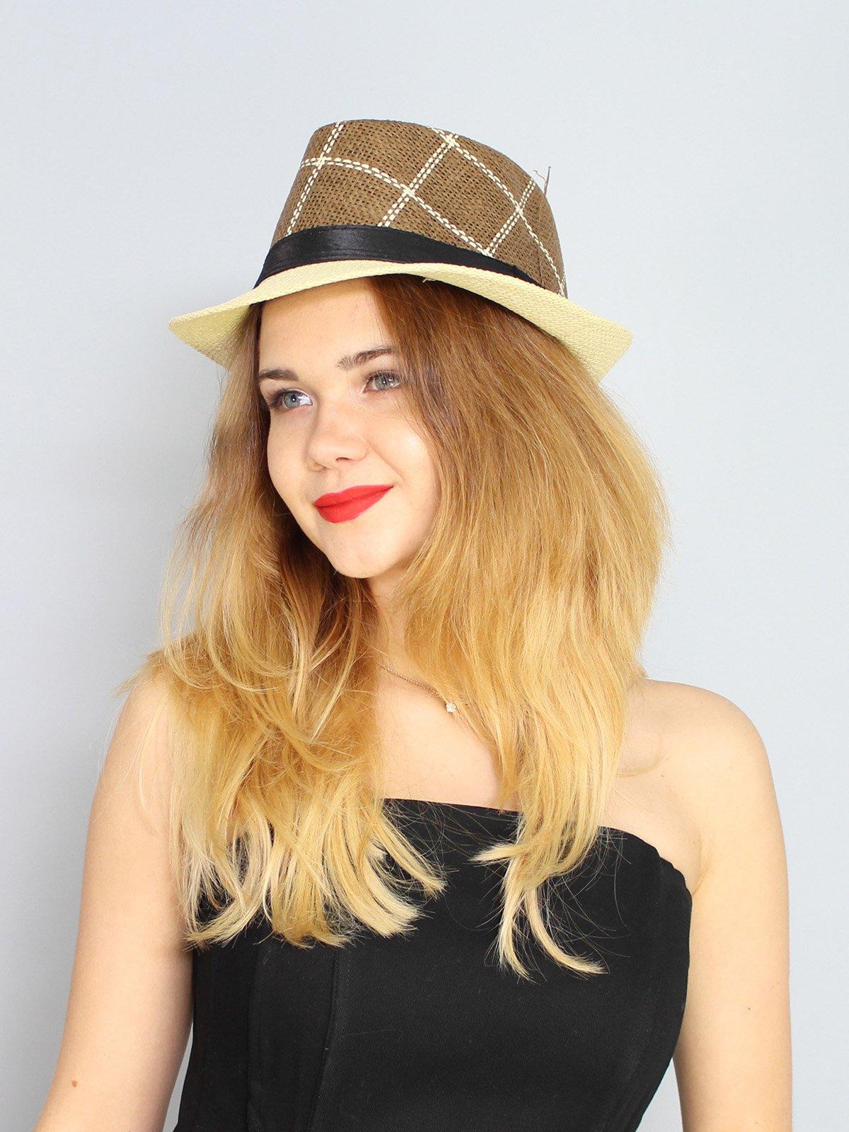 Шляпа коричневая | 3328559