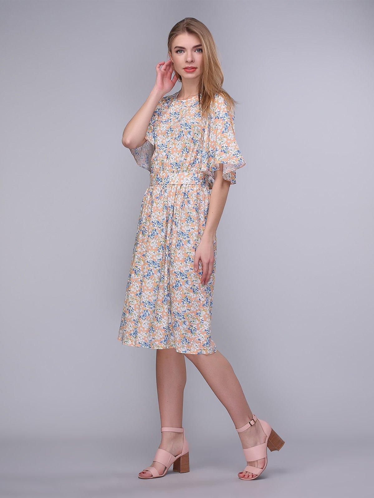 Сукня персикова в квіти | 4058229