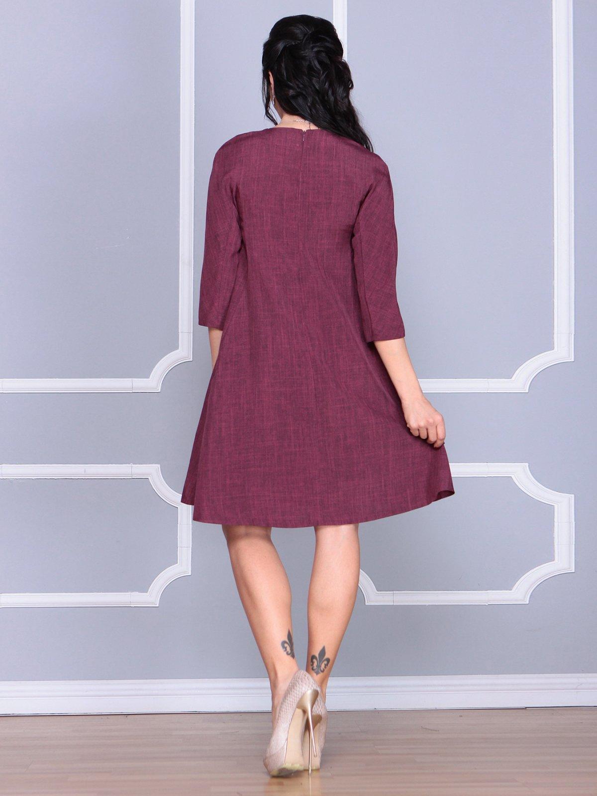 Платье сливового цвета   4058098   фото 2