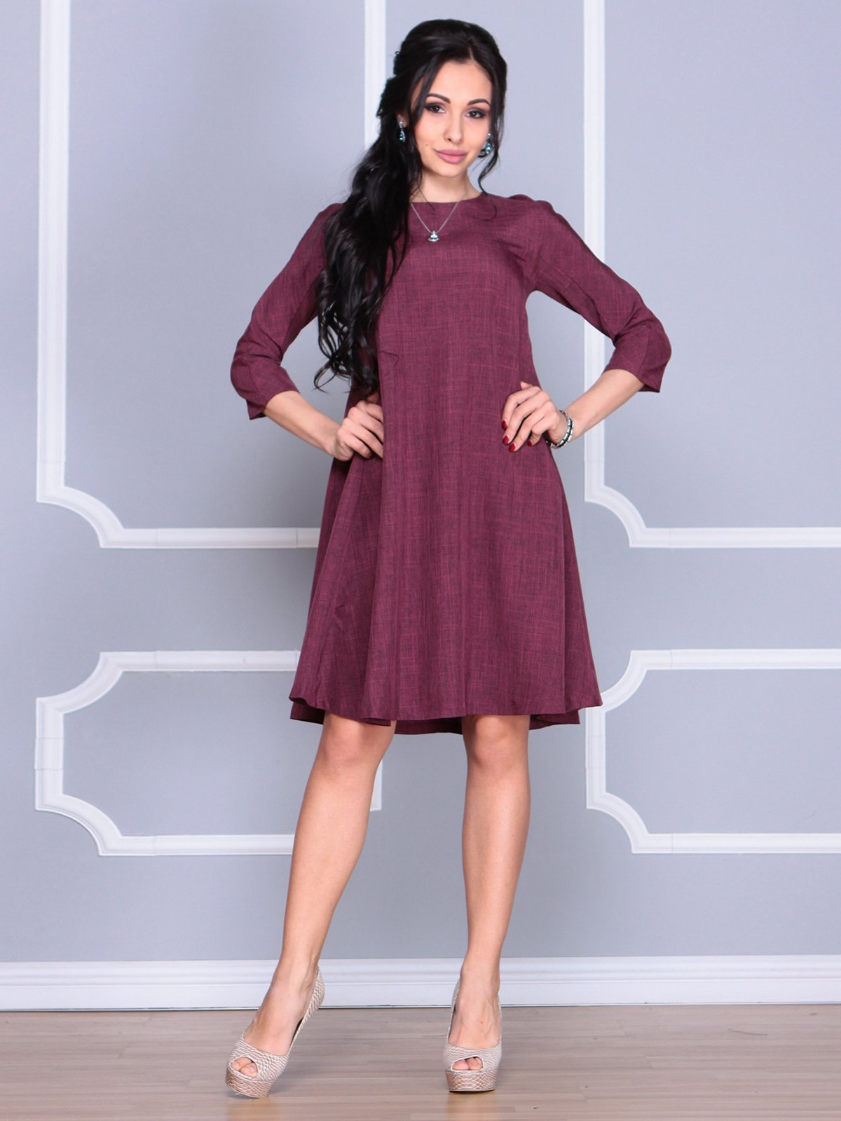 Платье сливового цвета   4058098   фото 3