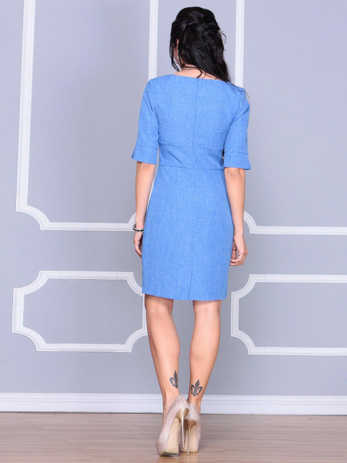 Платье цвета электрик | 4058099 | фото 2