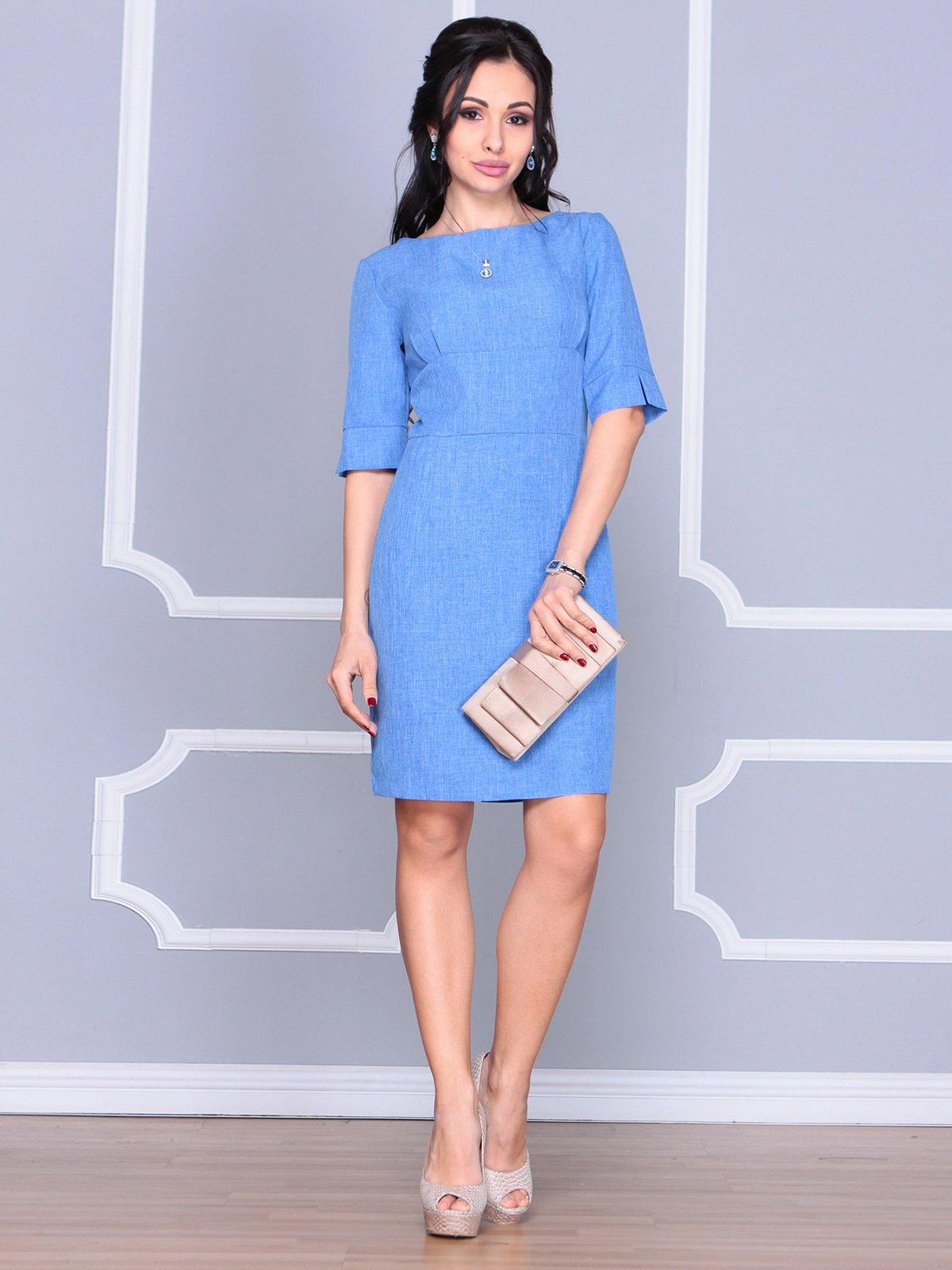 Платье цвета электрик | 4058099 | фото 3