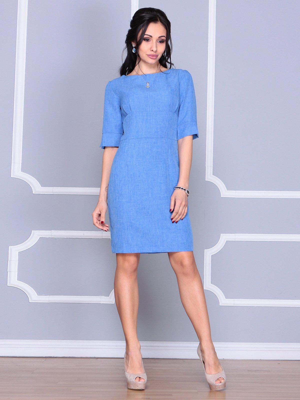 Платье цвета электрик | 4058099 | фото 4