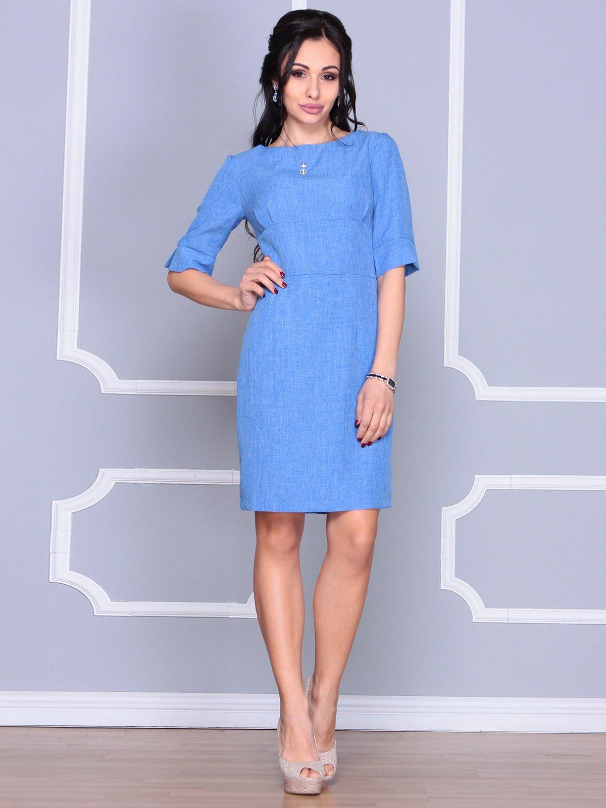 Платье цвета электрик | 4058099 | фото 5