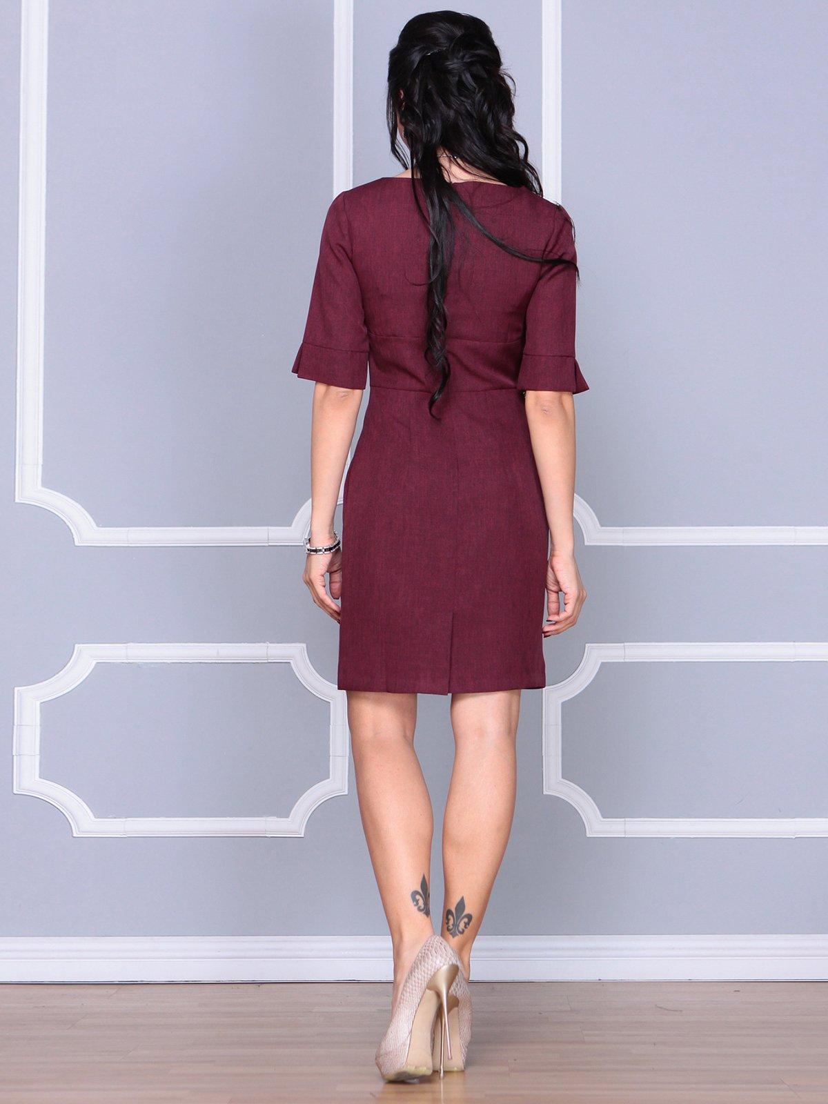 Платье сливового цвета | 4058100 | фото 2