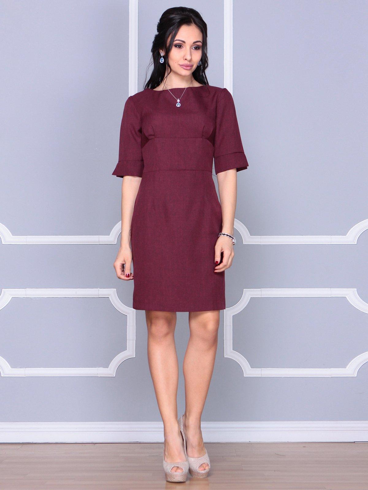 Платье сливового цвета | 4058100 | фото 3