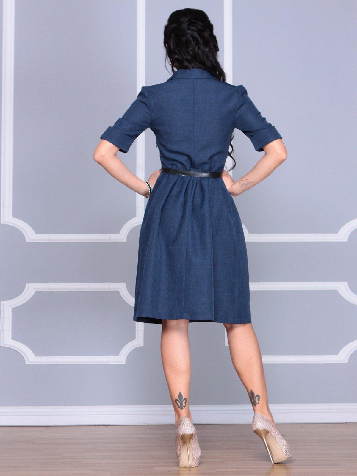 Платье темно-синее | 4058110 | фото 2