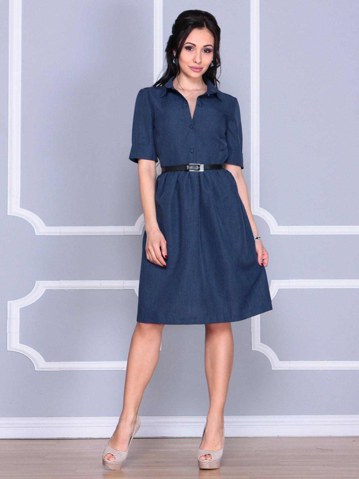 Платье темно-синее | 4058110 | фото 3