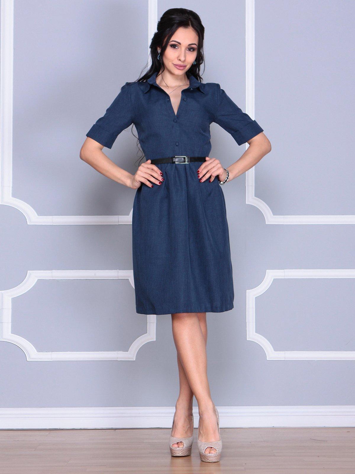 Платье темно-синее | 4058110 | фото 4