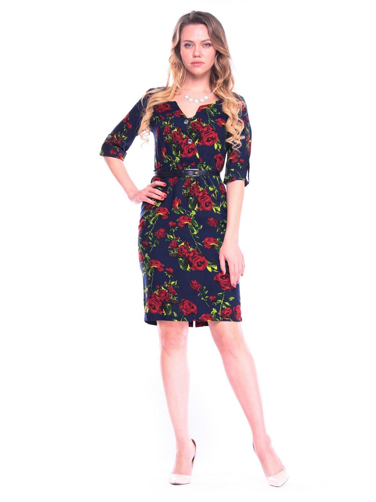 Платье в цветочный принт | 4058122