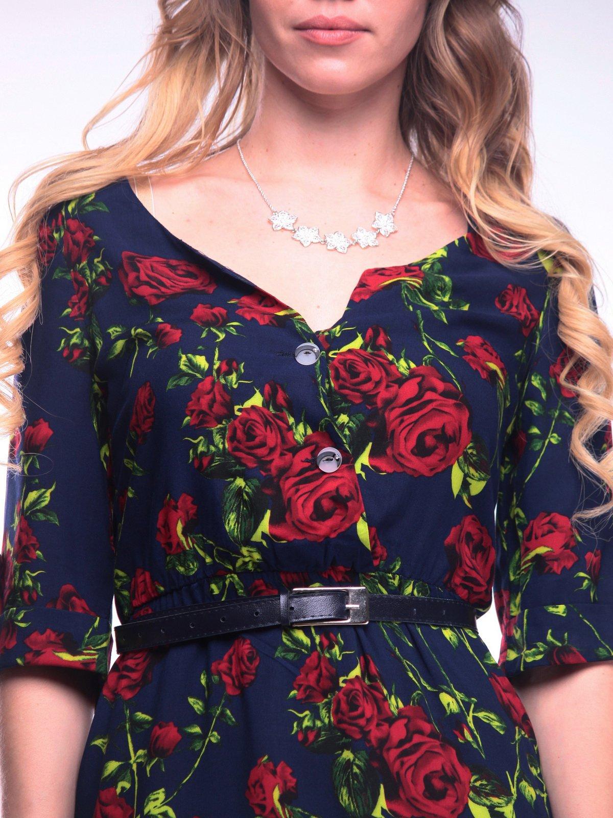 Платье в цветочный принт | 4058122 | фото 3