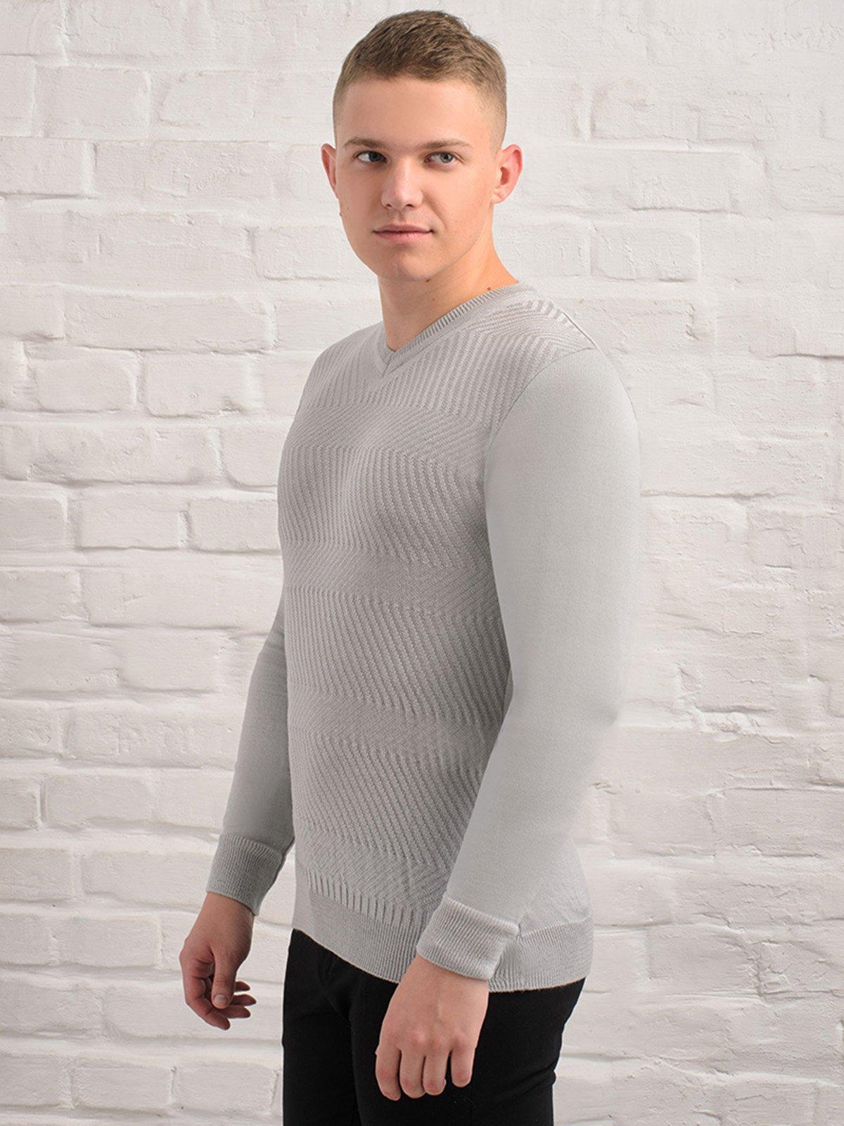 Пуловер світло-сірий   3892320   фото 4
