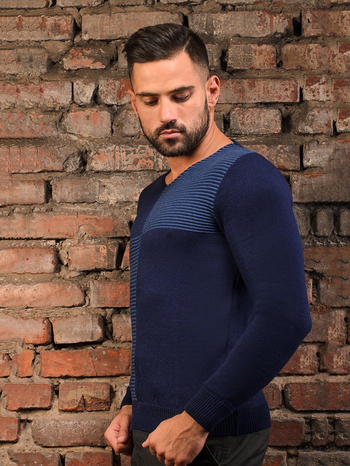 Пуловер темно-синій   3898898   фото 4